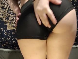 Cutie half Korean strip teases and fucks herself with a glass dildo