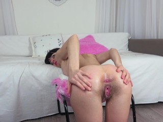 College girl anal fuck,with multiple Creampies for her asshole