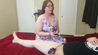 Porn male chastity Wife Led