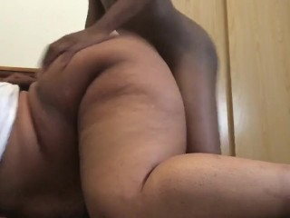 BBW TAKES BBC BOYFRIEND POUNDING HER PUSSY HARD DOGGY STYLE AND SPANKING