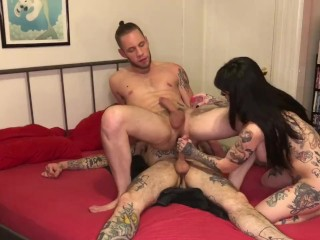 Her FIRST MMF Bisexual Threesome