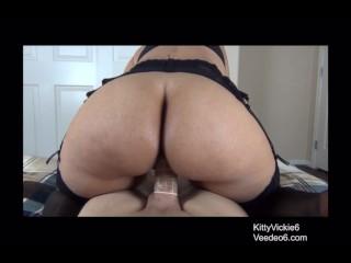 Soft ass Vickie riding a big dick