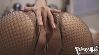 Amateur Babe NoFaceGirl's First Butt plug Fuck