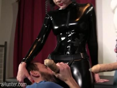 Sissy Husband Humiliated and Spitroasted