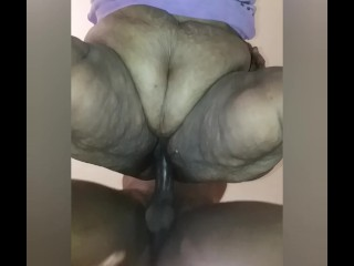 (Thanks For 100K Views) Mrs. Meaty's Pussy Farts For A BBC And Creampie