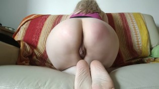 Big Ass With Miniskirt: Asshole Spread, Spanking And Worship