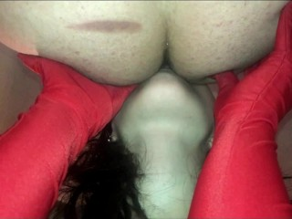 KINKY RUSSIAN TEEN GIRL LICK ASS , BLOWJOB AND SWALLOW CUM ! SECOND ANGLE