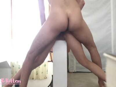 Fun weekend trip with sexy Asian GF! -PART 3- Sex on the stairs!