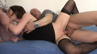 Lia Louise with 2 BIG Cocks