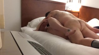 StepCousin dares me to strip naked on bed then holds me down used my hole
