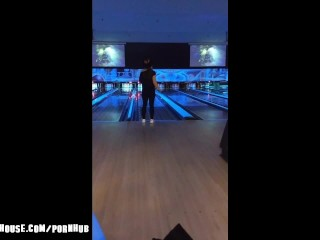 Caught by Cops inside Public Pool after She Loses her Bowling Match