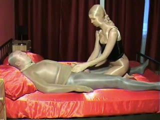 Shiny Sheer Wolford Pantyhose Nylon Encasement Hardcore Couple Sex