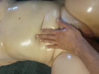 Oiled Teen w big natural tits gets fucked POV - Horny Nicky
