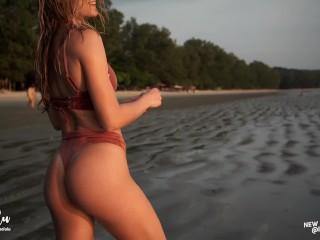 Young Couple Passionate Hard Fuck on Holidays with Sunset - Amateur LeoLulu