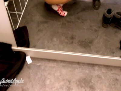 Sex in a Shopping Fitting Room - Amateur Mysweetapple