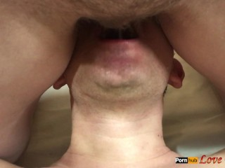 Pissing in Man's Mouth, Lick Hairy Pussy after Pee