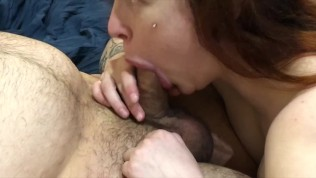 Sloppy Rough Deepthroat Close Up - Blowjob Day With Oral Creampie