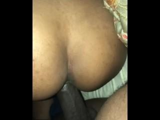 Cum slut taking my big black cock balls deep