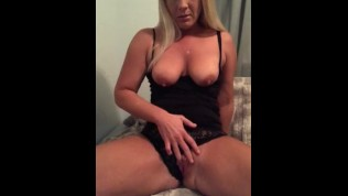 Mom masturbating and squirting with guests in next room