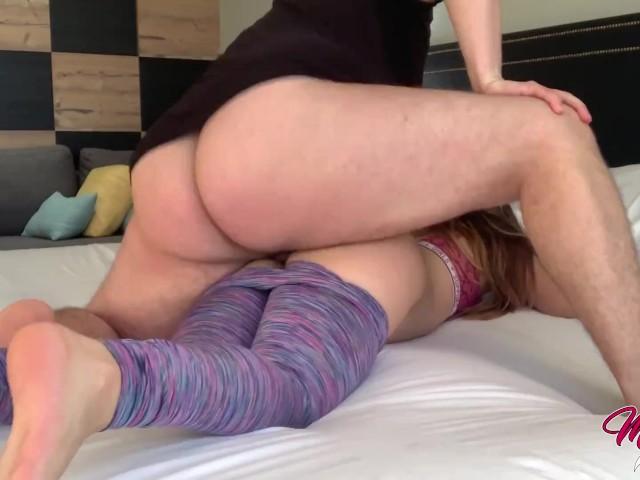 Mia Fucking Quickie Before Her Yoga Class - ( Creampie )
