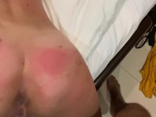 Ass fuck training for a French girl