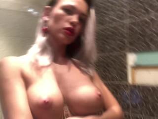 Gorgeous insta girl masturbates in the shower