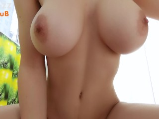 Sex with an ex-girlfriend with big Tits