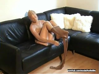Pantyhose Nylon Encasement Girl Self Mummification Cocoon