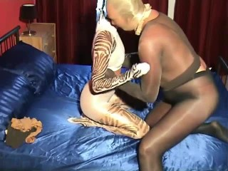 Pantyhose Nylon Encasement Bondage Fuck Couple With Footjob And Handjob