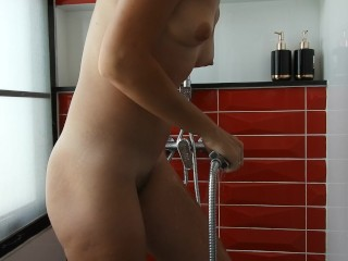Ignore! Shower, Hairy Pussy, Legs Shaving, Squirting