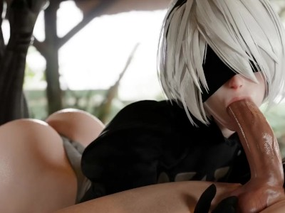 2b Yorha Blowjob 3D Animation with Sound