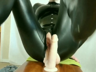 LONG DP Ride w/ Painfully Big Buttplug & Thick Dildo, Watch My Pussy Cream