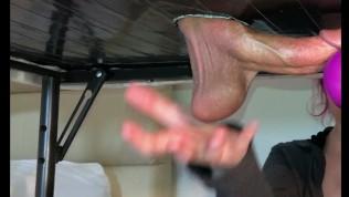 Cock Gets Edged & Milked On Gloryhole Table