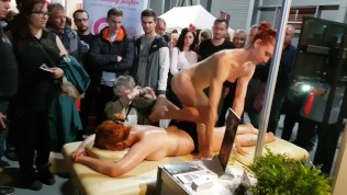 Public massage at Prague erotic festival