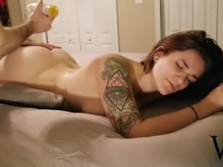 Big Ass German MILF Gets Oil Massage and Rough Anal Fuck