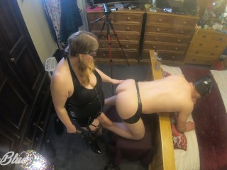 Mistress Fucks His Ass Deep with her new King Cock - Strapon Anal Pegging
