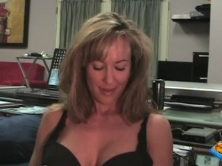 Big-tit milf Brandi Love deepthroats and gets tittyfucked in the office