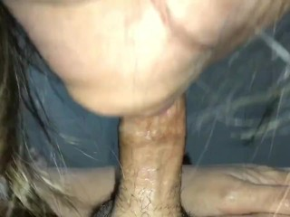 Filipina wife gives the best blowjob. Cum play and then swallow