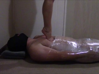 Mistress Tiffany tramples and jumps on her slave barefoot - Part 3 of 3