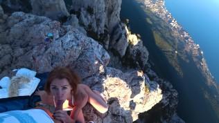 Risky Public fuck on a cliff. Amateur Mia Bandini