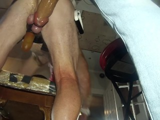 Submissive Husband Dominate Wife Buttfucks Him Like a Pig