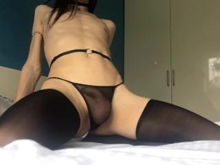 femboy cumming all over tight ass after teasing play fingering ass slap