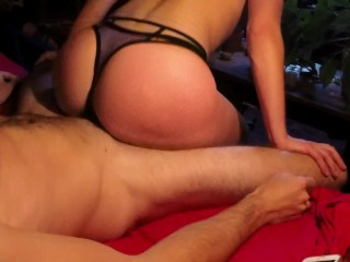 Fit girl rides cock and gets fucked in lingerie – Amateur FuckForeverEver