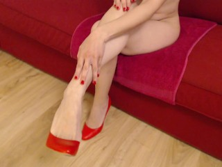 Post orgam foot job with perfect feet