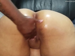 Thick Latina was behind on her rent, she let me play with her pussy and ass