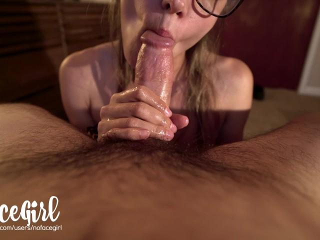 Fit Babe Passionately Strokes and Sucks Your Hard Cock - Amateur Nofacegirl