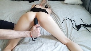 Punished Teen. Finger bang her pussy, massages G spot to multiple orgasms.