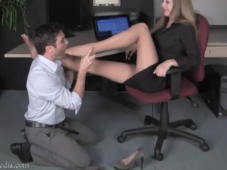 Star 9 Office Foot Teasing Domination