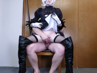 Nier Automata 2B Cosplay – Somegirth Thick Cock 4 Petite YoRHa No. 2 Type B