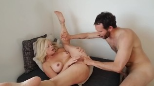 Cute little mom gets spanked, fucked, fisted and cum on her face